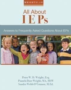 All About IEPS Wrightslaw Book