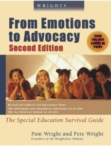 Emotions to Advocacy Wrightslaw Book